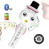 SEHNGY Macchina per Karaoke Portatile con Altoparlante, Microfono Wireless per Bambini, per Regali di Giocattoli, casa, Musica per Feste all'aperto Che Suona e Canta,Pink