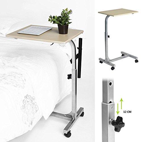 Aingoo port¨¢til PC Stand Lapdesks port¨¢til de altura ajustable mesa de sof¨¢ cama  beige