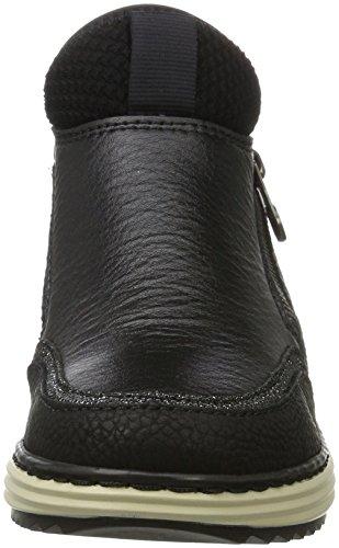 Rieker M9350, Scarpe da Ginnastica Alte Donna Nero (Schwarz/noir-argent/schwarz/schwarz)