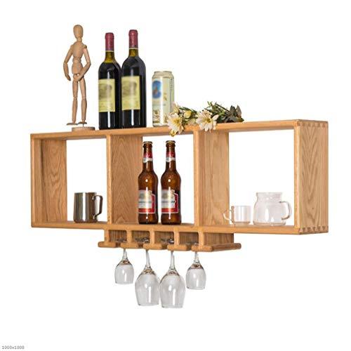 TX ZHAORUI Wein Regal Wand Hängende Weinschrank Massivholz Zu Hause Moderne Einfache Wein-Glas-Display-Rack-Restaurant Wine Rack Rack,A