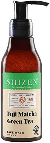 SHIZEN Skin De-Tox Fuji Matcha Green Tea Face Wash / Good Moisturizer /Mixture of Organic Gifts / 150ml/100% O
