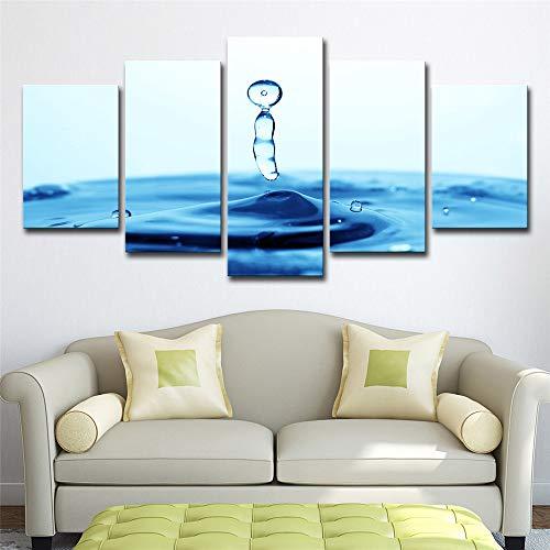 guutop HD rahmenlose malerei Spray malerei leinwand malerei 5 Platte wandkunst Glas wassertropfen HD Bild Hause wanddekoration - Malerei-glas-platten