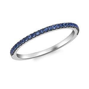 Carissima Gold Damen Sapphire Band Ring 9k(375)