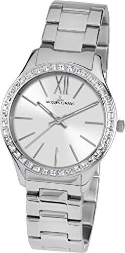 Jacques Lemans Damen-Armbanduhr Rome Analog Quarz Edelstahl 1-1841F