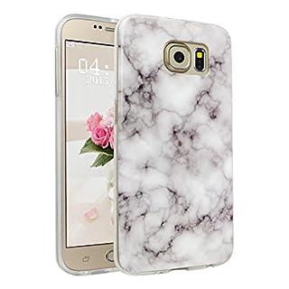 Handyhülle für Samsung Galaxy S6, Asnlove Ultra Dünn TPU Silikon Hülle Case Cover Marmor Motiv mit IMD Schale Backcover Tasche Schutzhülle für Samsung Galaxy S6 G920F, Grau