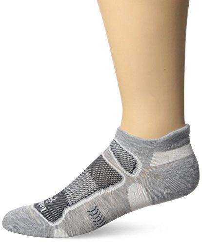 Balega Herren Ultralight No Show Athletic Running Socken, grau/weiß, M