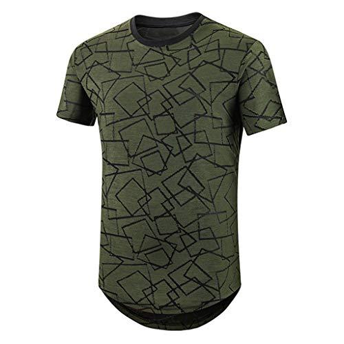 Moserian Herren Neue Sommer Casual T-Shirt Geometrie Druck Sport Atmungsaktive Top Bluse