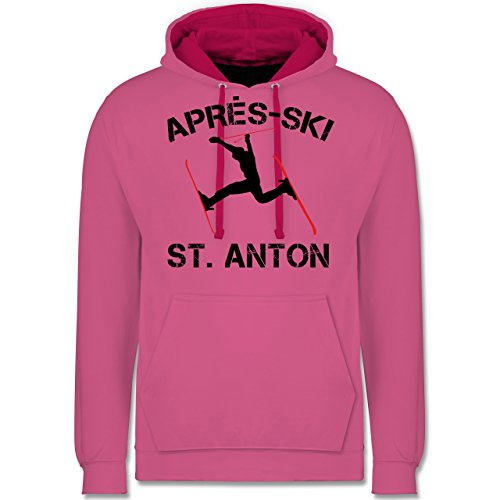 Après Ski - Apres Ski St Anton - Kontrast Hoodie Rosa/Fuchsia