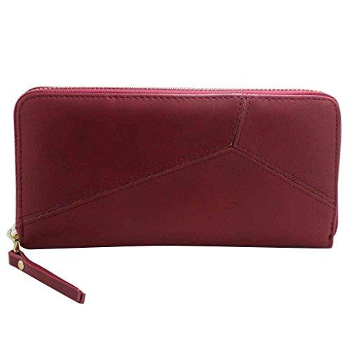 Miaomiaogo Damen Geldbörse Lange PU Leder 2 Fold Unregelmäßige Spleißmuster Feste Geldbörse (Fold Geldbörse)