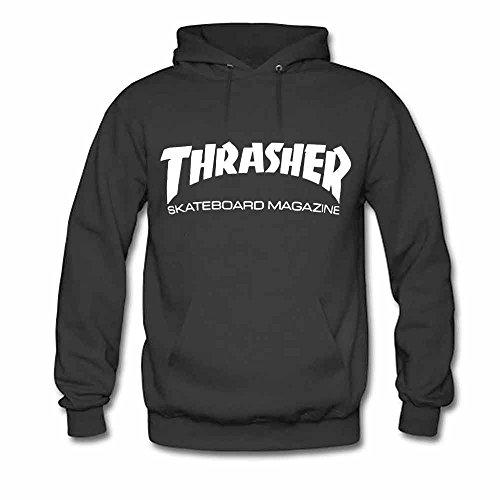 Mens Hooded Sweatshirt Thrasher Logo Skateboard Magazine Cotton Hoodie M