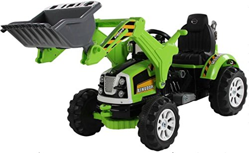 *Kinderfahrzeug Elektro Auto – Baufahrzeug – Bagger – 12V7AH Akku,2 Motoren -Grün*