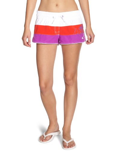 adidas Damen Badehose GR Short, white/red carpet/ultra purple, 36, X13168 (Shorts Adidas Piping)