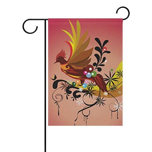 Bennigiry Phoenix, rund, Polyester, Stoff-Flagge/Fahne, wetterfest, für Outdoor-Aktivitäten, doppelseitig, mit flag-, t262, 12x 18cm, Gesponnenes Polyester, mehrfarbig, 28x40(in)