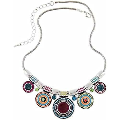dia de la madre kawaii Collar - SODIAL(R)Collar de estras de aleacion de bohemia de multicolor para mujeres