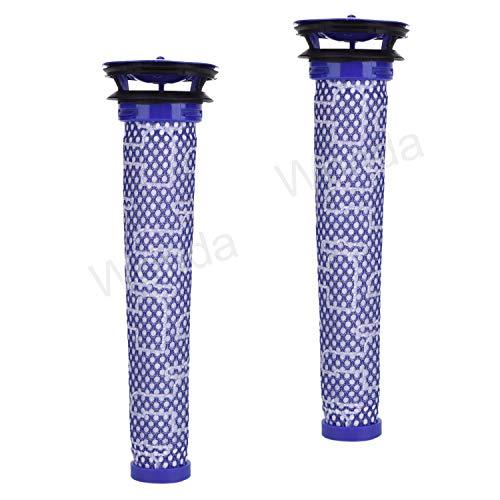 2 Pack Ersatzfilter für Dyson V8, V6, V7, DC58, DC59 Tier Kompatibel Waschbar Vorfilter Ersetzt Teil # 965661-01 - 2 Filter
