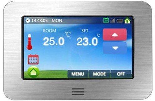 Thermostat-boden (Fußbodenheizung Thermostat großer Farb-Touchscreen 11,9 cm (Boden- und Luftsensor-Thermostat))