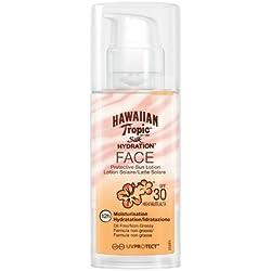 Hawaiian Tropic, Latte solare idratante per il viso, con fattore SPF 30, 50 ml