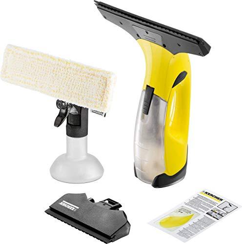 Kärcher Akku Fenstersauger WV 50 Plus (Akkulaufzeit: 20 min, Sprühflasche mit Mikrofaserbezug, Fensterreiniger-Konzentrat 20 ml)