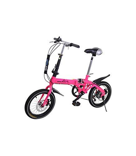Riscko Bicicleta Plegable Super Bike Bep-32 Rosa Fluor