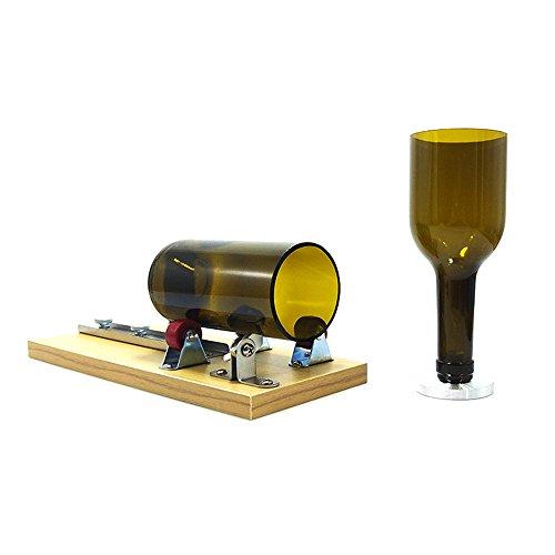 Flaschenschneider, Jajadeal Glasflaschenschneider Runde Wein Bier Glas Flasche Cutter Maschine, Flaschen Schneidwerkzeug für DIY flasche von Vasen, Flaschenpflanzer, Flaschenleuchten, Kerzenständer - Wein-maschine