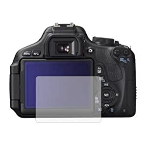 6 x Membrane Screen Protectors for Canon EOS 600D (Rebel T3i) - Crystal Clear (Glossy), Retail Package, Installation Kit