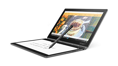 Lenovo Yoga Book C930 27,4 cm (10,75 Zoll QHD IPS Touch) Convertible Tablet-PC (Intel i5-7Y54 Dual-Core, 4 GB RAM, 256 GB SSD, Wi-Fi, Windows 10 Home) grau