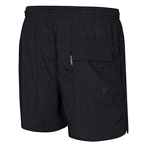 Speedo Solid Leisure Short de bain Homme Noir FR : XXL (Taille Fabricant : XXL)