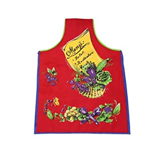 Tobeni ® 1708-007 Apron menu for the Grill and the kitchen in 100 Cotton