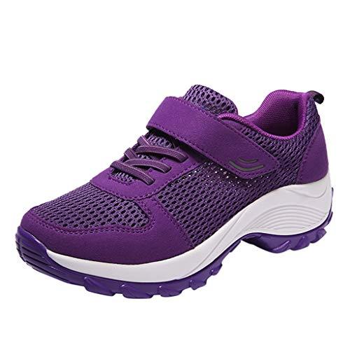 Lilicat Donna Sneakers Scarpe da Ginnastica Corsa Sportive Fitness Running Basse Interior Casual all'Aperto Ginnastica Scarpe(Viola,36.5 EU)