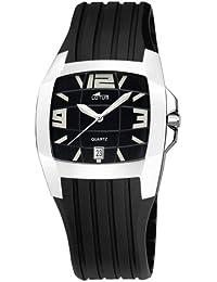 ec03bddcbb5f Lotus Shiny 15318-2 - Reloj de caballero de cuarzo con correa de goma negra