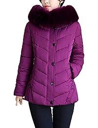 Doudoune Manteau Femme Warm Hiver Veste A Capuche Manches Longues Unicolore  Ave 912be611779