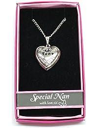 Especial Nan nombre personalizado amor Lockets/colgantes con imagen soporte presentado a la perfección por ley Effectz
