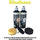 Pulimento para carroceria 2X1/2 kilo y utiles de pulido para taladro