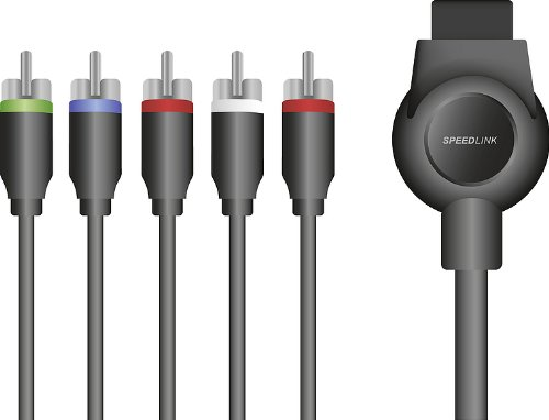 Speedlink Komponentenkabel für PS3 - MAX-3 Component HD Cable (Stereo-Audio-Anschlüsse - unterstützt HD-Auflösungen bis 1080p - magnetische Abschirmung gegen Störimpulse) 1,8m Kabellänge schwarz