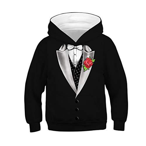 Mädchen Boy Kostüm Beast - i-uend 2019 Jungen Mantel - Teen Kids Girl Boy Zipper Hoodie Sweatshirt Fleece Pullover 3D Digitaldruck Mit Kapuze Shirts Tasche für 4-13 Jahre