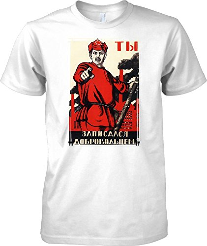 Russian Propoganda Poster WW2 - Mens T Shirt