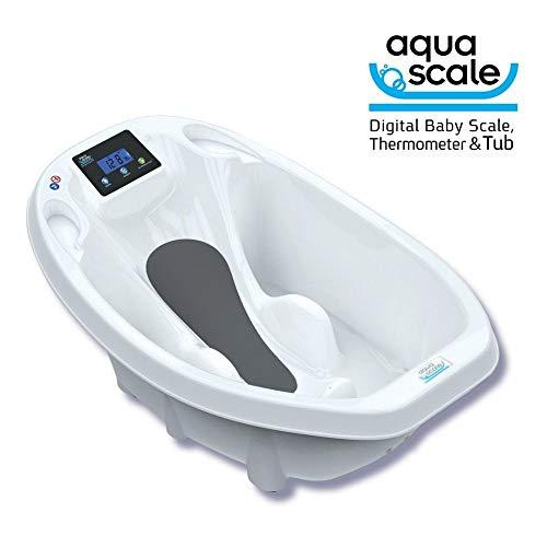 Vaschetta Per Neonati Aquascale - Vaschetta Da Bagno Dotata Di Bilancia Digitale E Termometro Acqua