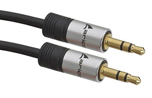 aricona 3,5mm Klinke auf Klinke – AUX Audio Kabel für Kopfhörer / 1 Meter