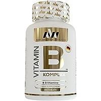 PREMIUM Vitamin B Komplex | Hochdosiert | Umfasst alle 8 B-Vitamine | Mit Calcium | 180 Tabletten | Made in Germany