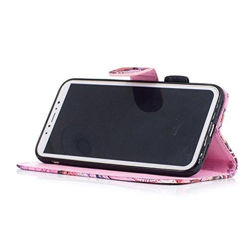 inShang Custodia per iPhone X 5.8 inch con design integrato Portafoglio, iPhoneX 5.8inch case cover con funzione di supporto. Unicorn
