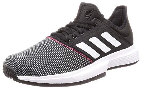 adidas Herren Gamecourt M Tennisschuhe, Schwarz Core Black/FTWR White/Shock Red, 42 2/3 EU