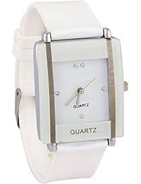 Shoppingmazz New Trendy Look Formal White Square Dial Girl's Analog Watch - For WoMen