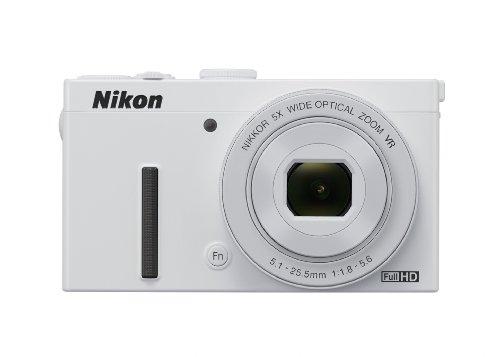 Nikon Coolpix P340 Digitalkamera (12 Megapixel, 5-Fach optischer Weitwinkel-Zoom, 7,5 cm (3 Zoll) RGBW-LCD-Monitor, 5-Achsen-Bildstabilisator (VR), Dynamic Fine Zoom, Wi-Fi) weiß