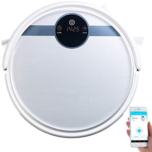 Sichler Haushaltsgeräte Staubsaugroboter: WLAN-Staubsauger-Roboter mit Bürst- & Wischfunktion, für Amazon Alexa (Saugroboter WLAN)
