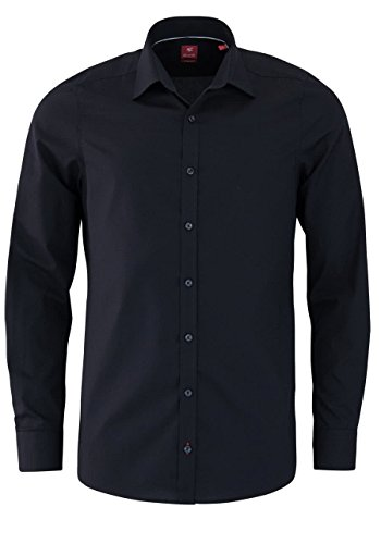 Pure Herren Business Hemd Schwarz