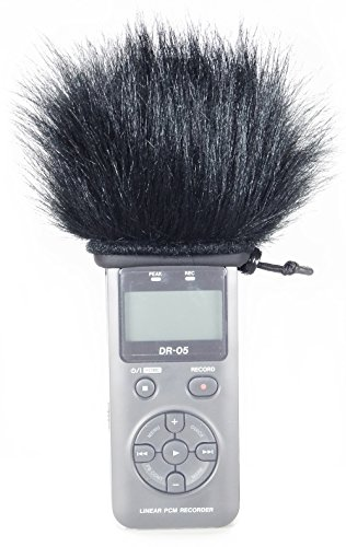 Master Sound Tascam DR-05, Windscreen Muff for recorder Tascam Tascam DR-05 / DR-05 V2 to protect the record from the wind, easy to put on hand recorders, made in the EU from certified, high-quality and reliable materials, Record in a high quality!