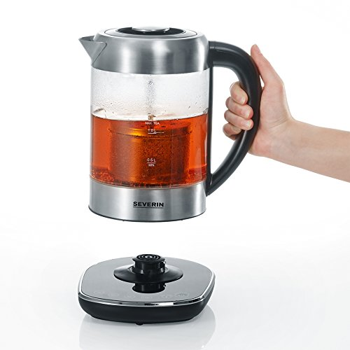 Severin WK 3471 Glas-Tee Wasserkocher, Glas edelstahl gebürstet - 4