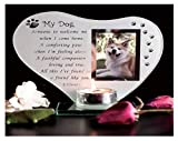 My Dog - Inspirational poem, candle and photo holder glass memorial plaque by Thorness