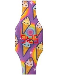 Orologio a LED digitale per ragazze, bambini e giovani, da polso, cinturino in morbido silicone, regalo trendy, con gelati, Kiddus KI10208