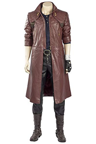 RedJade Devil May Cry 5 Dante Outfit Trenchcoat Cosplay Kostüm Herren (Devil May Cry 5 Dante Cosplay Kostüm)